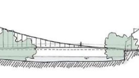 One of the designs to be considered for the new bridge over the River Great Ouse in St Neots. Pictur