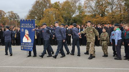 Nicholas Breakspear Catholic School in St Albans held a Remembrance service to mark the centenery of
