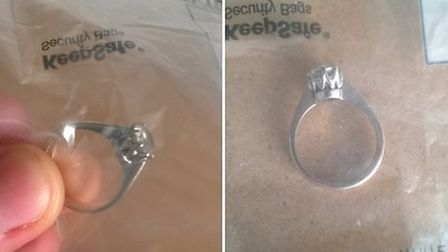 The rings that has been handed to the police