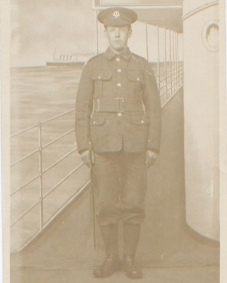 Jo Woodworth's Great Uncle Charles who died in World War I. Picture: Jo Woodworth