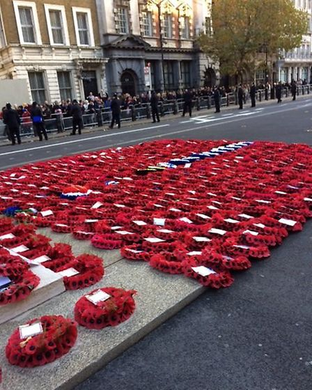 Jo Woodworth from St Albans marched in the people's procession to mark the centenary of World War I.