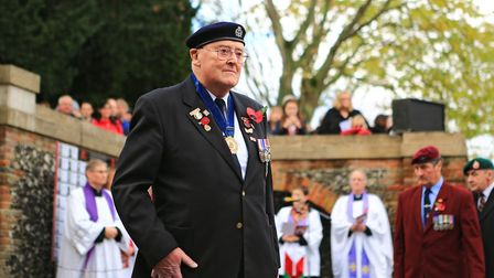 Veterans pay their respects at the Remembrance Sunday Service in Royston Town. Picture: KEVIN RICHAR