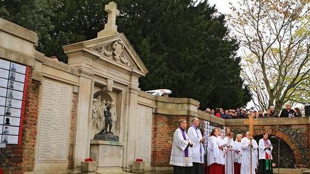 Royston War Memorial during Remembrance Sunday Service in Royston Town. Picture: KEVIN RICHARDS