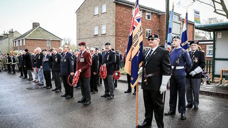 Prepared to join the parade before Remembrance Sunday Service in Royston Town. Picture: KEVIN RICHAR