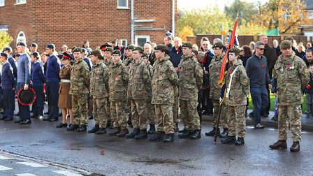 Cadets line up before Remembrance Sunday Service in Royston Town. Picture: KEVIN RICHARDS