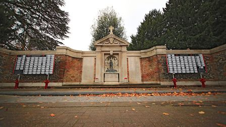 Royston War Memorial before Remembrance Sunday Service in Royston Town. Picture: KEVIN RICHARDS