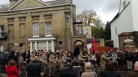 The Remembrance Sunday parade in Royston. Picture: Gemma Rose
