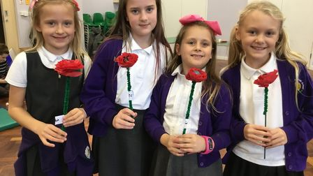 Roman Way First School children in Royston commemorated the centenary of the end of the First World