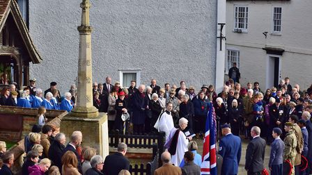 Armistice Day parades at Kimbolton. Picture: CONTRIBUTED