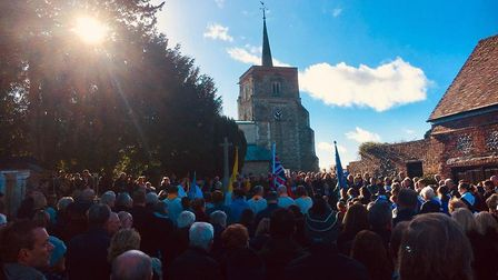 The memorial service for Remembrance Day in Flamstead. Picture: Tracey West