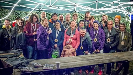 Friends and family of Paula's took part in the event to raise money for the cause