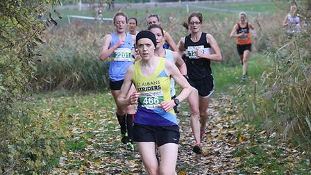 St Albans Striders' Jen Conway at Teardrop Lakes. Picture: BARRY CORNELIUS