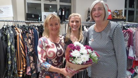 Maureen Brierley from Home-Start Royston & South Cambridgeshire with Sally and Steff Saunders of Ess