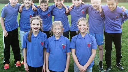 The Middlefield Primary Academy team who won the Small Schools event.