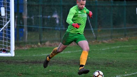 Dan Davidson proved to be an able goalkeeping deputy for Hemingfords United as they beat St Neots To