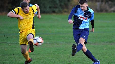 Action from Hemingfords United's success against St Neots Town Reserves in the Kershaw Premier Divis