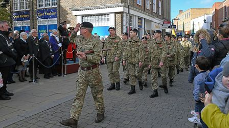 Armistice Day commemorations in Huntingdon. Picture: ARCHANT