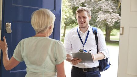 87 per cent of people said they were most likely to avoid answering the door to cold callers. Pictur