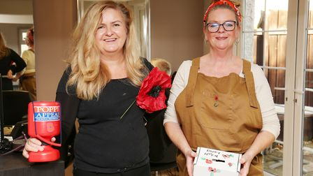 Jen Harper and Julie Turner of Harpers Hair Salon in Bassingbourn offer free haircuts in return for