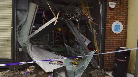 The damage after the ram raid