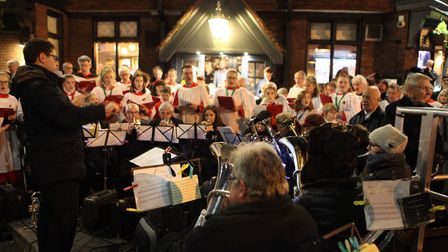 A band plays the music to the hymns during the St Albans Remembrance Day Parade 2018. {Craig Shephea