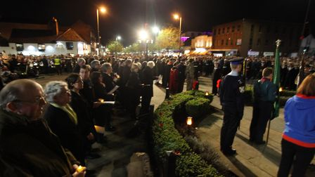 Large crowds gather to watch the St Albans Remembrance Day Parade 2018. {Craig Shepheard}