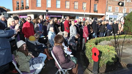 Large crowds gather at The St Albans Remembrance Day Parade 2018. Picture: CRAIG SHEPHEARD