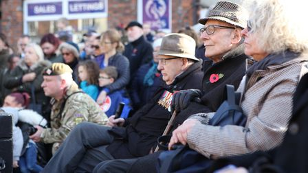 Retired Servicemen watch the St Albans Remembrance Day Parade 2018. Picture: CRAIG SHEPHEARD