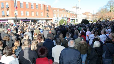 Large Crowds watch the St Albans Remembrance Day Parade 2018. Picture: CRAIG SHEPHEARD