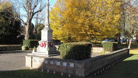 Bassingbourn commemorations took place at the war memorial and in the Church of St Peter and St Paul