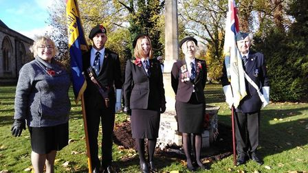 The Mordens Royston British Legion branch held Remembrance Sunday services in the parish. Picture: A