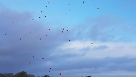 Balloon release at Ernulf Academy