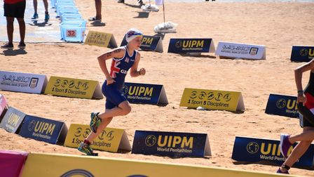 St Albans' Raissa Vickery took part in the World Biathle and Triathle Championships for Team GB.