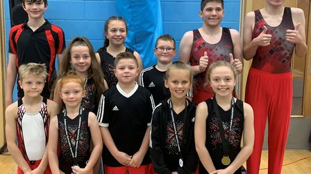 The successful Rotations squad are back row, left to right, Archie Rowbotham, Ruby Hall, Lily Payne,