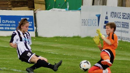 Tierney Coulson hit four goals in St Ives Town Ladies' cup success. Picture: LOUISE THOMPSON