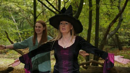 Third degree witch Dee Johnson prepares to perform a spell casting ritual with The Herts Advertiser