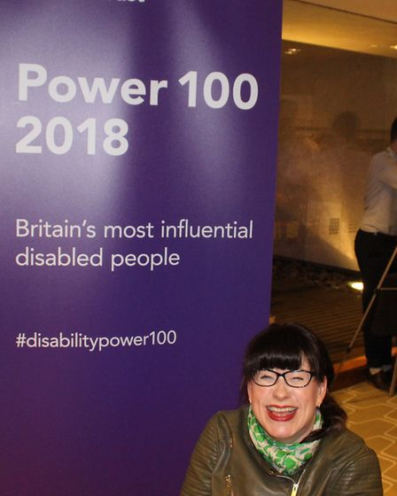 Mary Doyle has been named in the Shaw Trust Disability Power 100 List 2018. Picture: Submitted by Ma