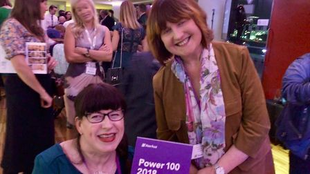 Mary Doyle with Kate Nash, ambassador to disability rights UK. She has been named in the Shaw Trust