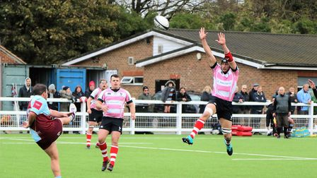 Harpenden suffered a number of injuries as they fell to defeat at Chiswick. Picture: MELANIE MCLOUGH