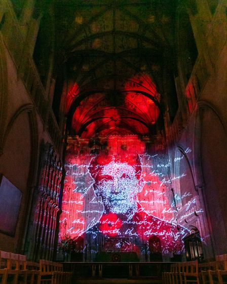 The Poppy Fields installation at St Albans Cathedral. Picture: Sally Masson