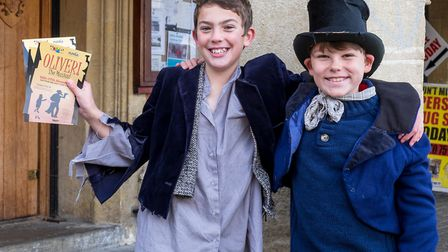 Will Lucas-Evans as Oliver and Rufus Goatman as The Artful Dodger