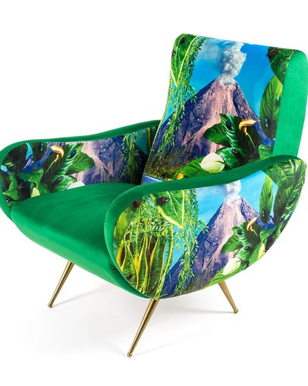 An Italian-made Seletti Wears Toiletpaper Volcano Chair combines pop art and black humour. £890 www.