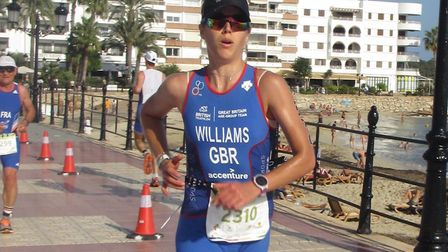 Jess Williams finished on the podium at the European Duathlon Championships in Ibiza recently.