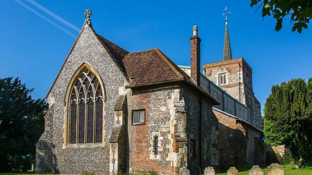 The sacristy and east window exterior at St Leonard's Church in Flamstead. Picture: TwoTalesCreative