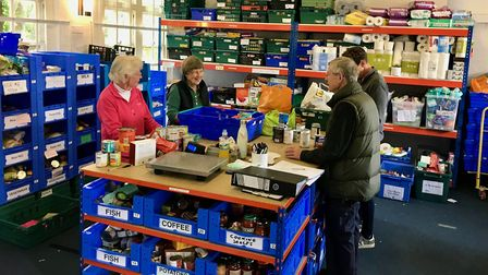 St Albans and District Foodbank warehouse. Picture: St Albans and District Foodbank