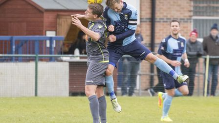 St Neots Town captain Johnny Herd in action against Matlock Town. Picture: CLAIRE HOWES