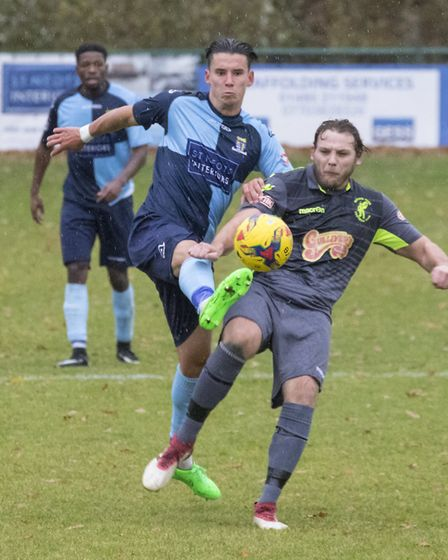 Tom Wood laid on the only goal as St Neots Town beat Matlock Town in the FA Trophy. Picture: CLAIRE