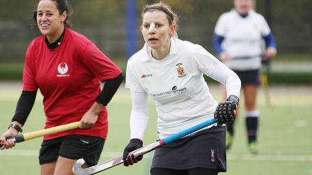 Joanna McGuire in the match between Harpenden and Stevenage ladies first teams. Picture: DANNY LOO