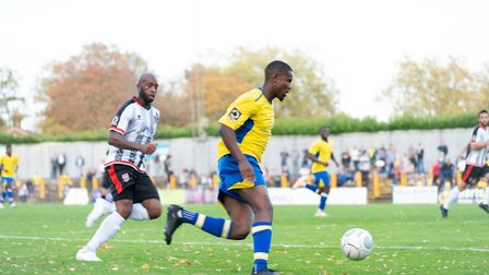 Khale Da Costa scored for St Albans City against Welling United. Picture: JEREMY BANKS PHOTOGRAPHY