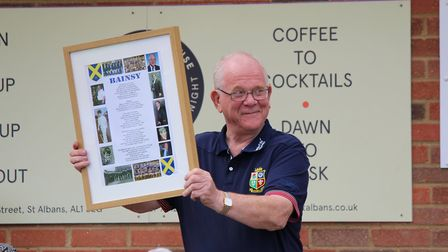 St Albans Rugby Club held a celebration to honour the end of Peter Baines' tenure as RFU president.